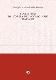 Bollettino dell'Opera del Vocabolario Italiano