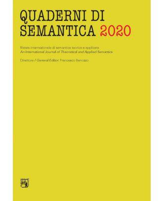 Quaderni di Semantica 06-2020 (Nuova serie)