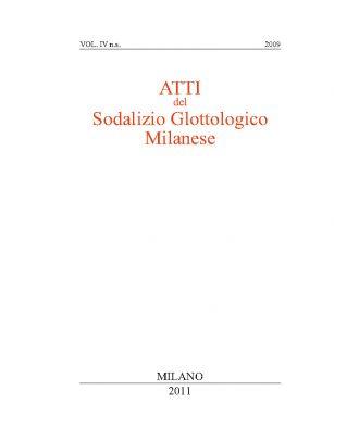 ATTI DEL SODALIZIO IV NS