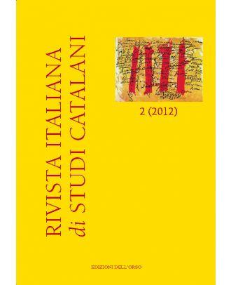 Rivista italiana di studi catalani N. 2-2012 COVER 1