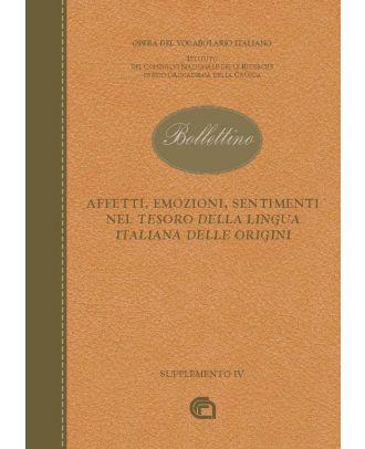 Affetti, emozioni, sentimenti nel Tesoro della Lingua Italiana delle Origini