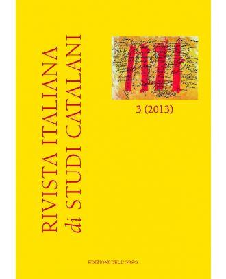 Rivista italiana di studi catalani N. 3-2013