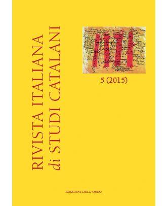 Rivista italiana di studi catalani N. 5-2015
