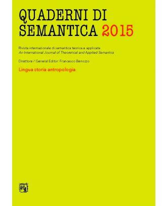 Quaderni di Semantica 01-2015 (Nuova serie)