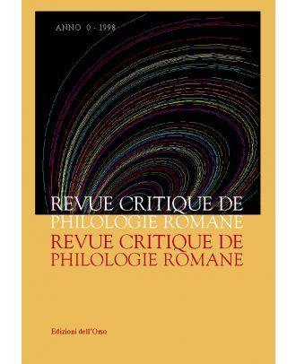 Revue Critique de Philologie Romane - 0