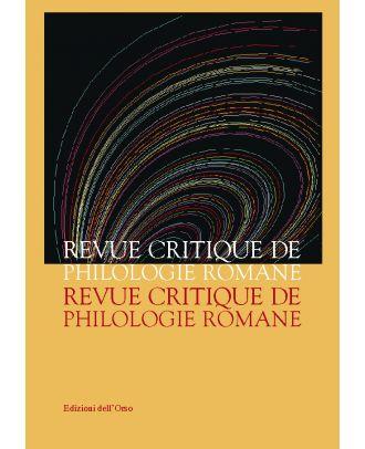 Revue Critique de Philologie Romane - 2