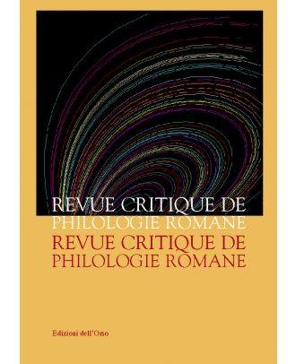 Revue Critique de Philologie Romane - 1