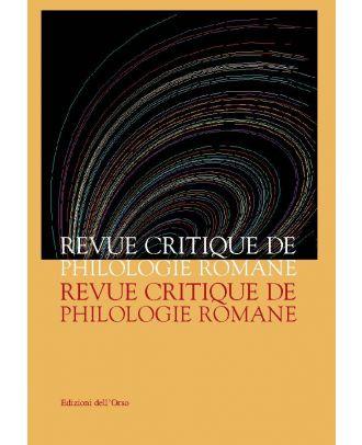 Revue Critique de Philologie Romane - 3
