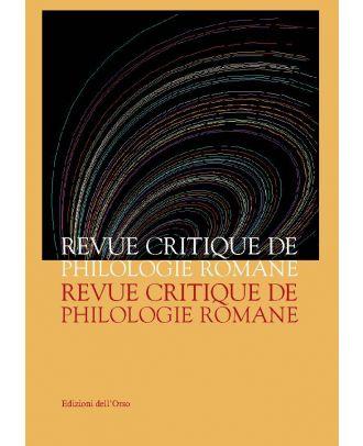 Revue Critique de Philologie Romane - 4-5