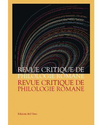 Revue Critique de Philologie Romane - 8